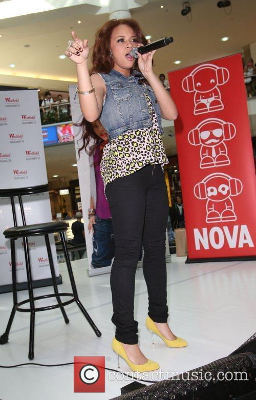 Alexis Jordan conducts an instore appearance with Nova...