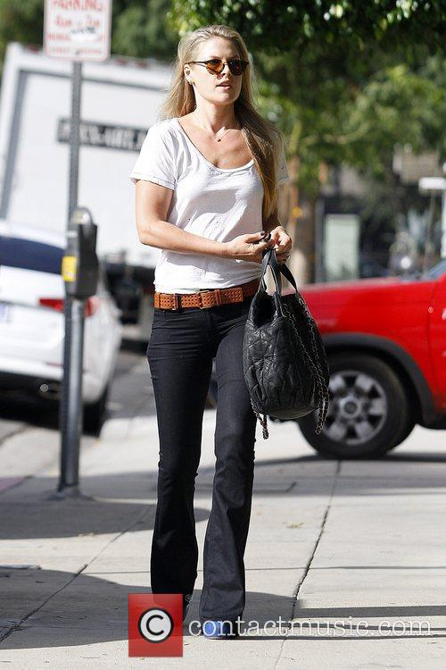 Arriving at a salon in Beverly Hills