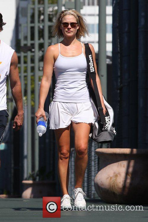 After a tennis class in Beverly Hills