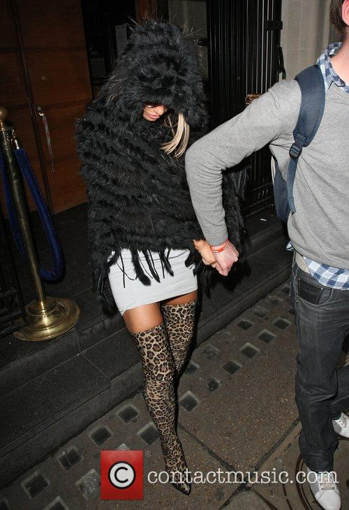 Katie Price leaving the Almada club on Berkeley...