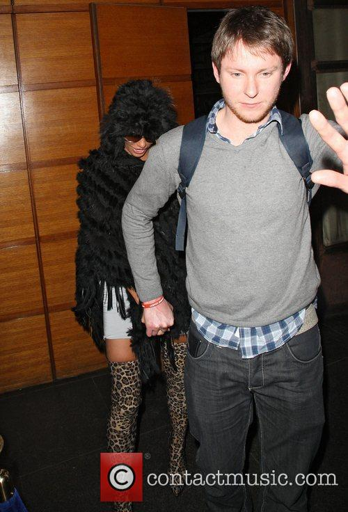 Katie Price leaving the Almada club on Berkeley...