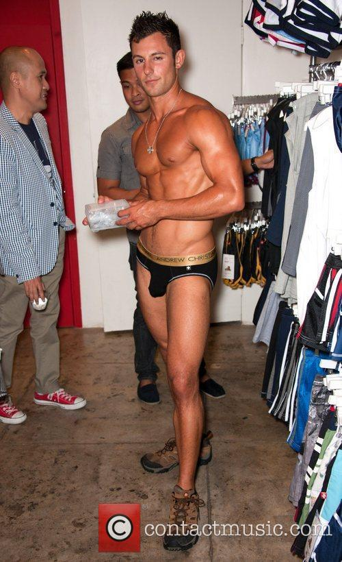 Almost Naked Infinity launch party at Andrew Christian's...