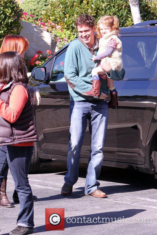 Alexis Denisof and his daughter Satyana Denisof in...