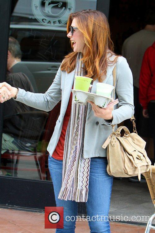 Alyson Hannigan  grabs some coffee in Brentwood...