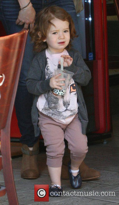 Alyson Hannigan's daughter Satyana Marie Denisof  enjoying...