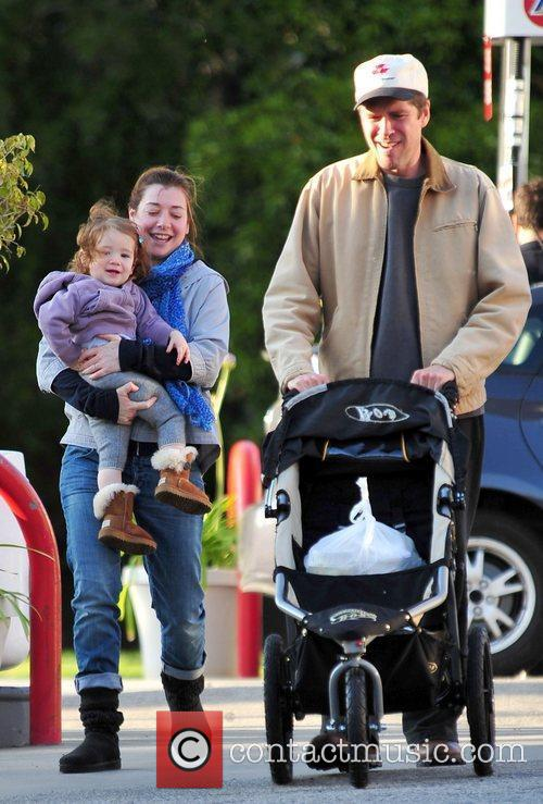 Alyson Hannigan, husband Alexis Denisof and their daughter...
