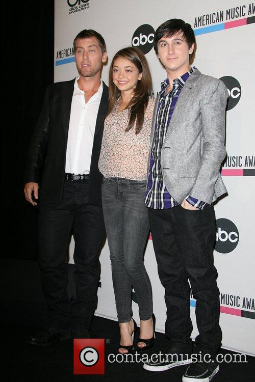 Lance Bass, Mitchel Musso, Sarah Hyland and American Music Awards 2