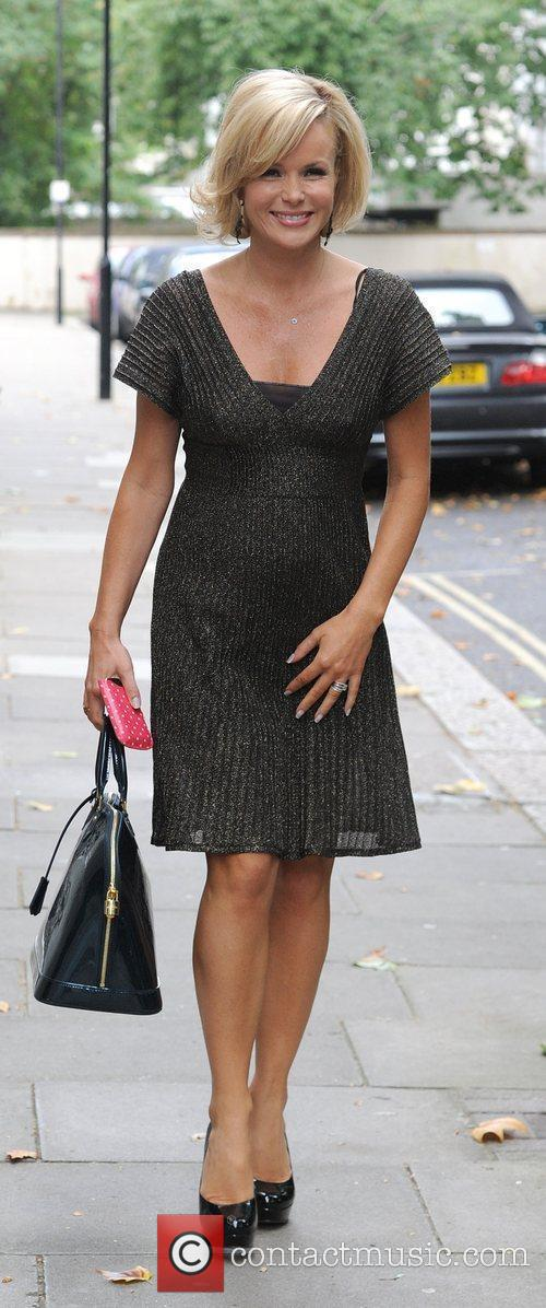 Amanda Holden leaving the Hempel hotel.