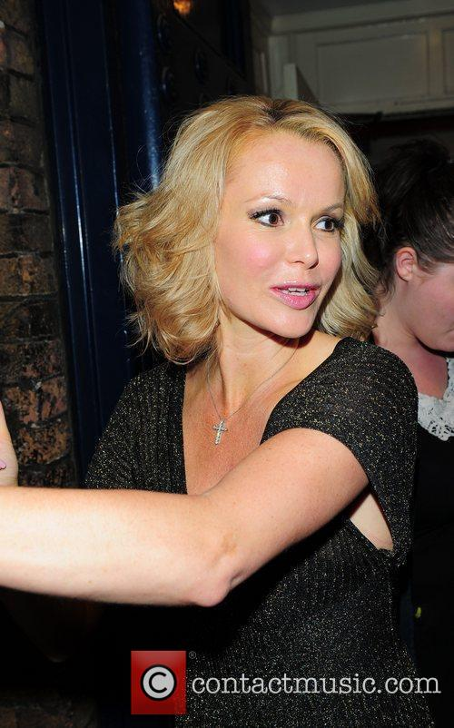 Amanda Holden leaving the Theatre Royal after her...