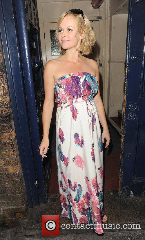 Amanda Holden leaving the Theatre Royal, having performed...