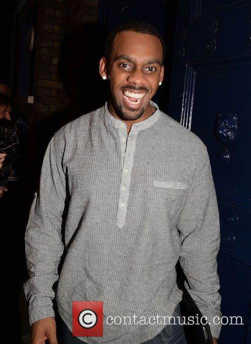 Richard Blackwood is seen leaving the Theatre Royal...
