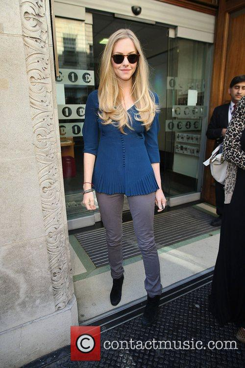Amanda Seyfried outisde at the BBC Radio One...
