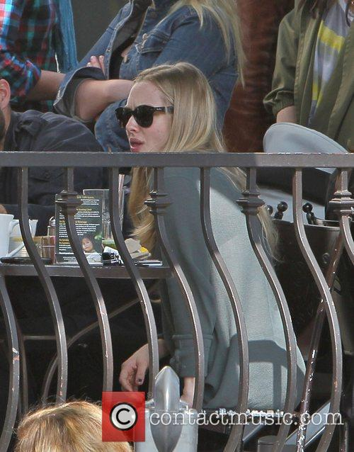 Amanda Seyfried having lunch with friends at the...
