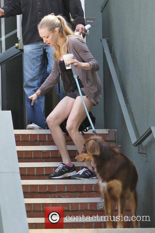 Amanda Seyfried wearing her gym clothes as she...