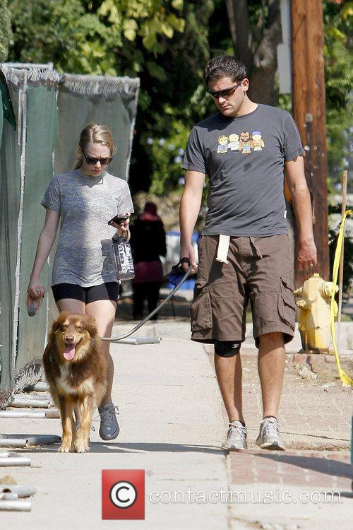 amanda seyfried walking with her dog finn 5745380