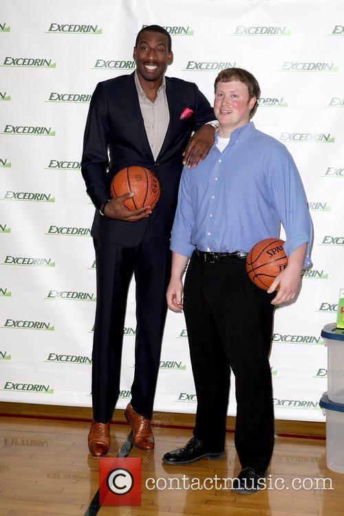 Amar'e Stoudemire and contest winner Walt Arnett NBA...