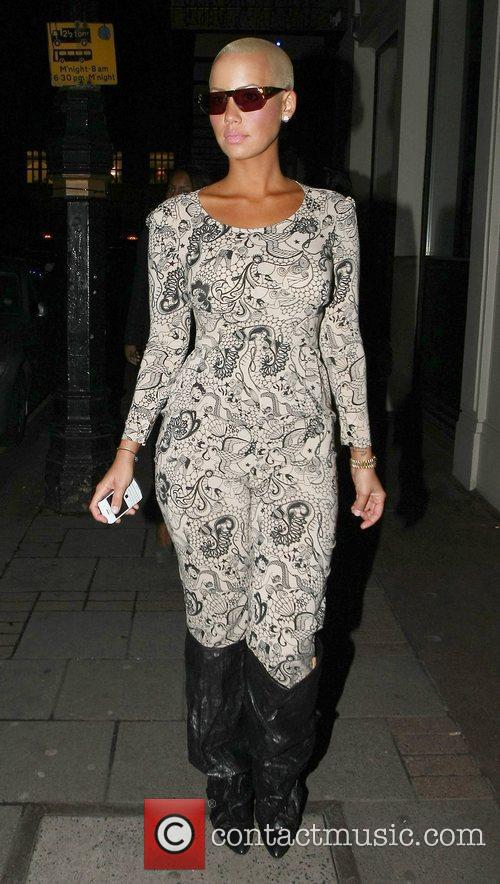 Amber Rose outside The May Fair Hotel London,...