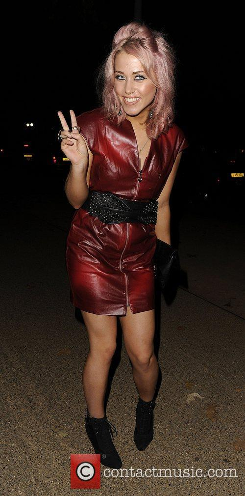 X Factor's Ameila Lily leaving Zaggora Hotpants launch...
