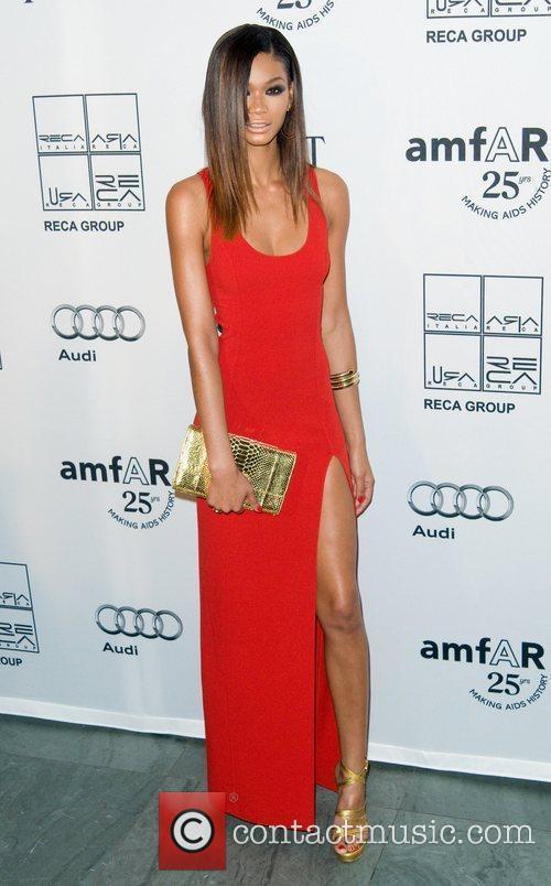 Chanel Iman 2nd Annual amfAR Inspiration Gala at...