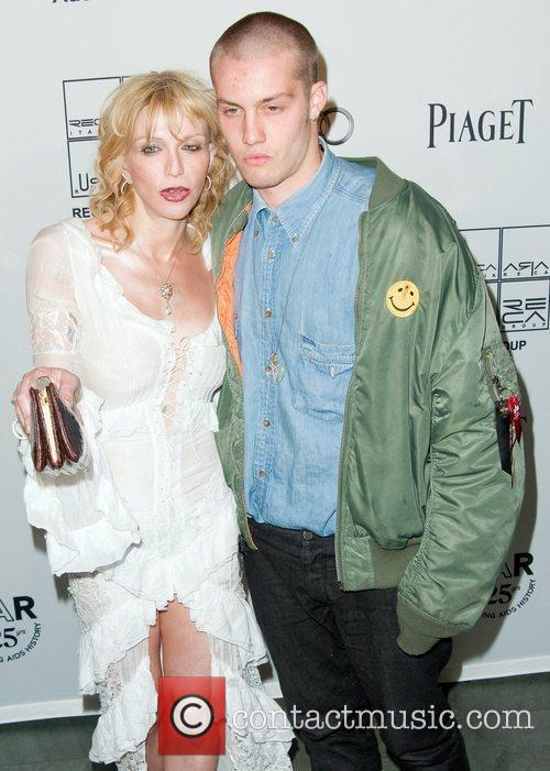 Courtney Love and Jack Donoqhue 2nd Annual amfAR...