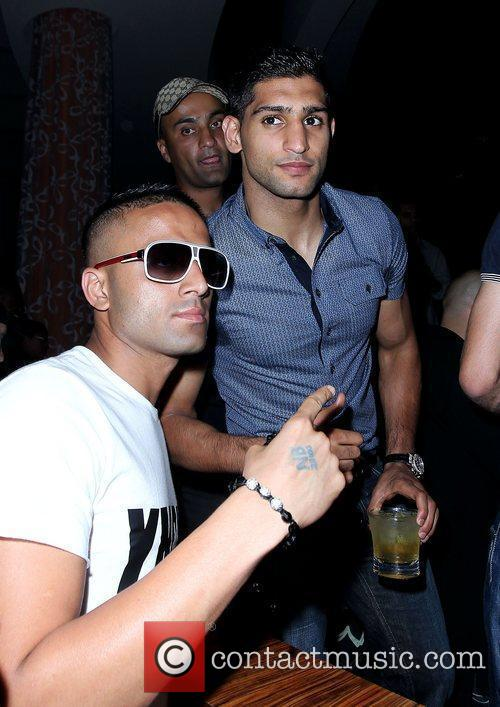 Amir Khan After Fight Party at Club Nikki...