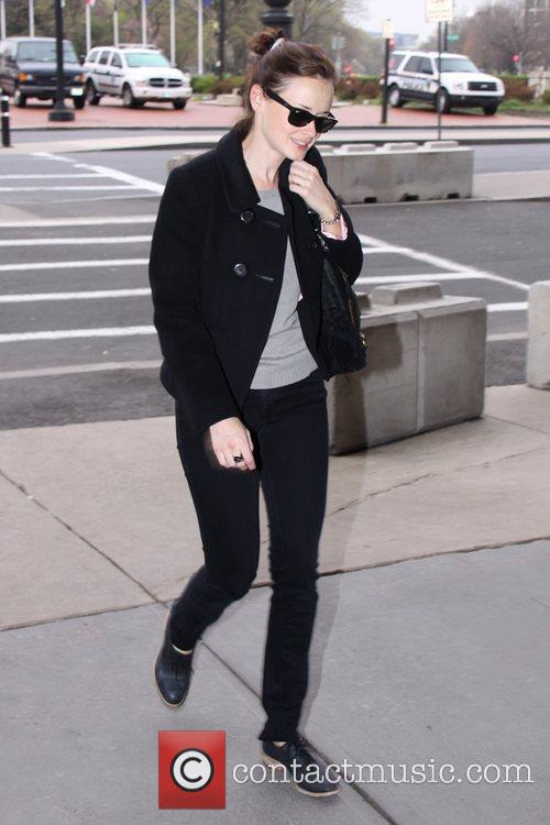 Alexis Bledel Celebrities arriving at Union Station to...