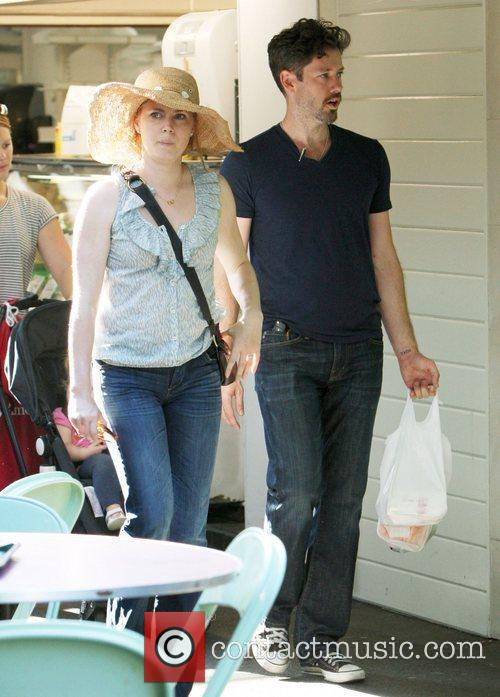 Amy Adams and her fiance Darren Le Gallo...