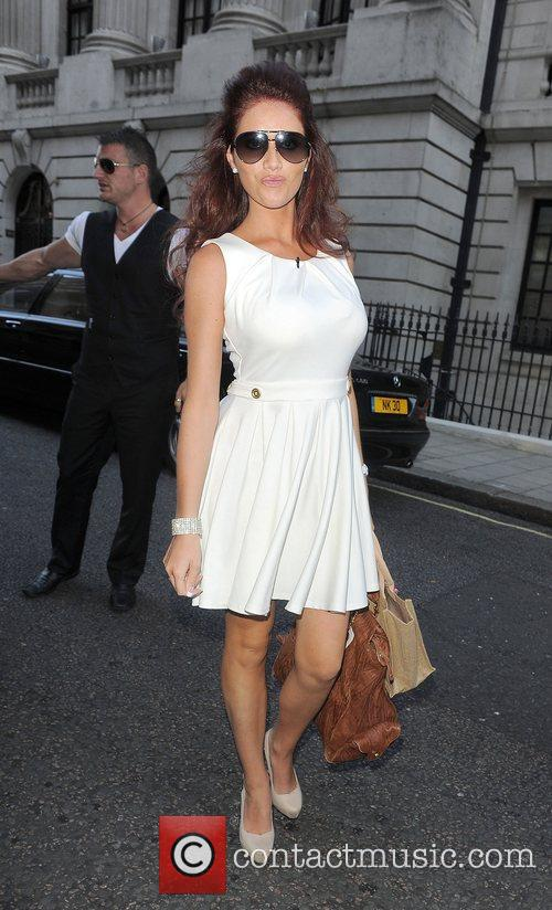 Amy Childs leaving her hotel London, England