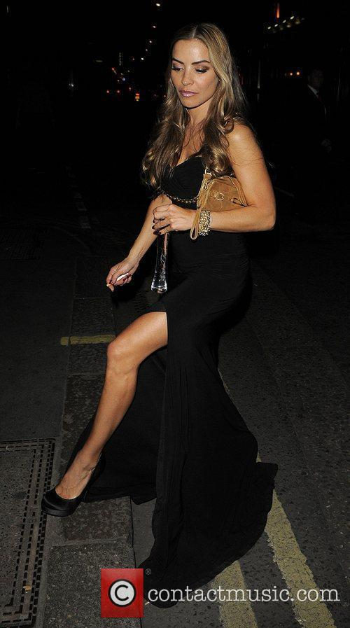 Elen Rivas outside Amy Childs 21st birthday party...