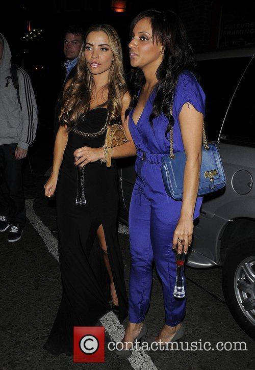 Elen Rivas with friend outside Amy Childs 21st...