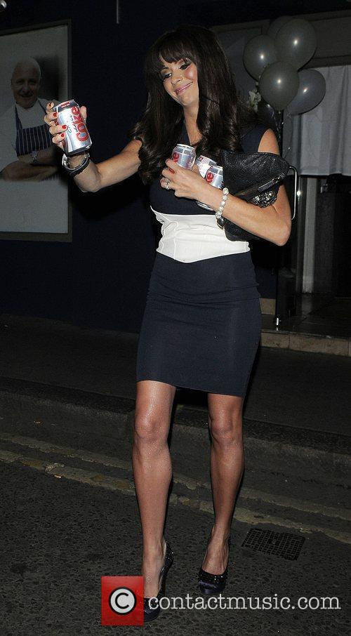 Nicola McLean outside Amy Childs 21st birthday party...