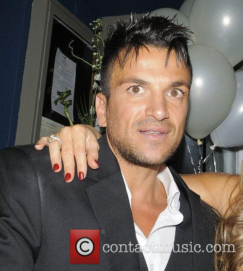 Peter Andre leaving Amy Childs 21st birthday party...