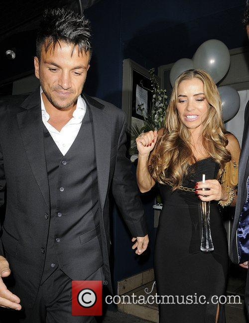 Peter Andre and Elen Rivas leaving Amy Childs...