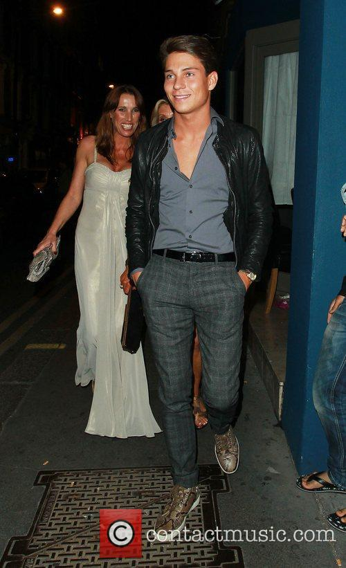 Leaving Amy Childs 21st birthday party at a...