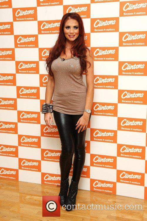 Amy Childs signs copies of her calendar at...