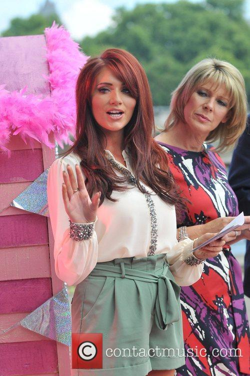 Amy Childs and Ruth Langsford presenting a segment...