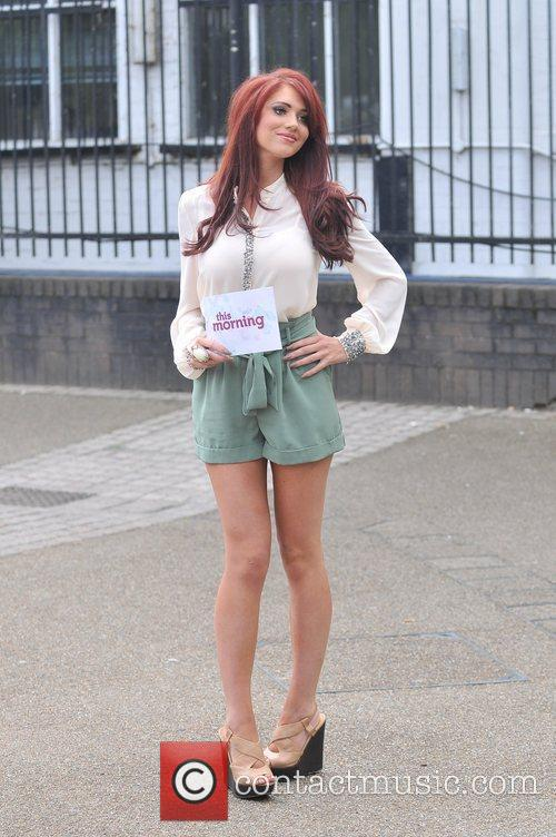 Amy Childs presenting a segment on 'This Morning'...