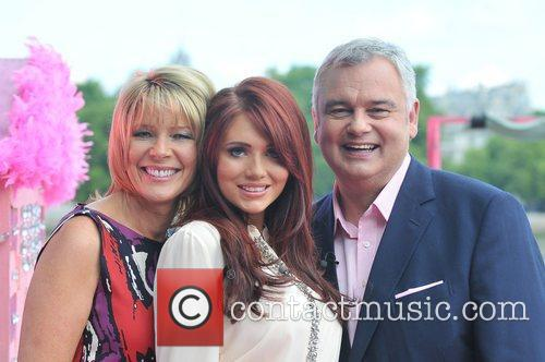 Ruth Langsford, Amy Childs and Eamon Holmes presenting...