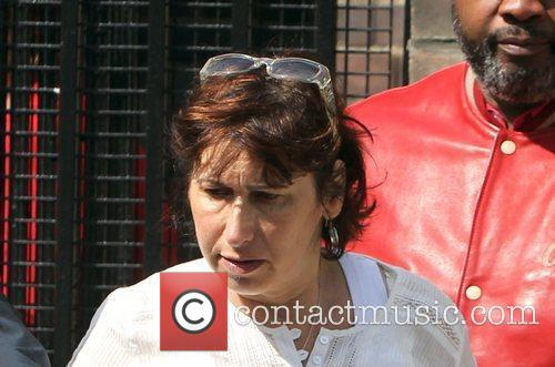 Janis Winehouse outside the coroner's office following her...