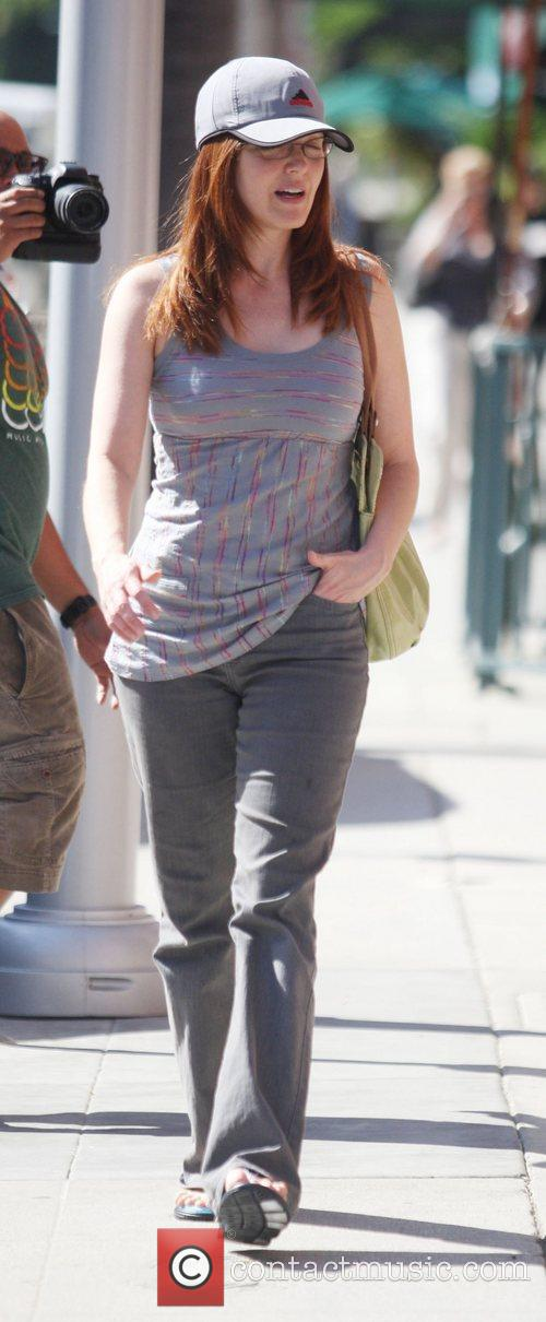 Amy Yasbeck out walking in Beverly Hills Los...