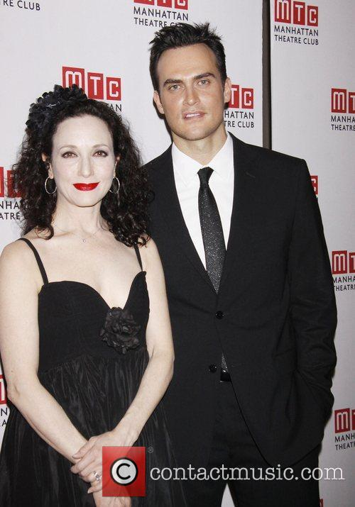Bebe Neuwirth and Cheyenne Jackson during the pre-show...