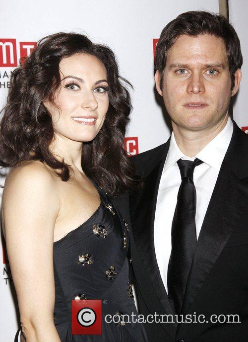 Laura Benanti and Steven Pasquale during the pre-show...