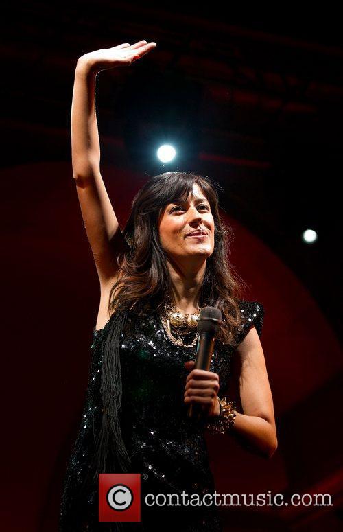 Ana Moura performs live at Patio da Gale...