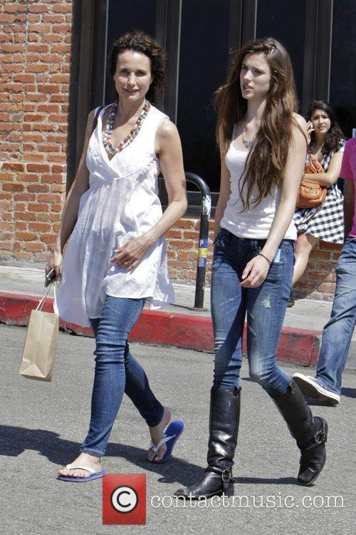 Andie MacDowell and her daughter Rainey Qualley take...