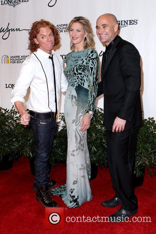 Carrot Top, Andre Agassi and Stefanie Graf Andre...