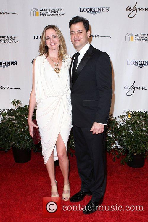 Molly McNearney and Jimmy Kimmel Andre Agassi Grand...