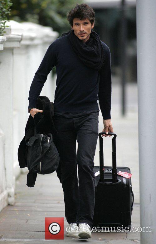 Andres Segura leaving girlfriend Kylie Minogue's house London,...