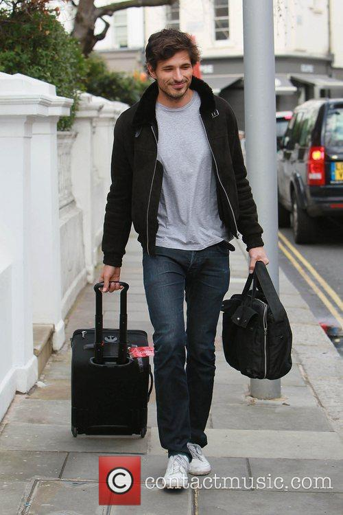 Leaving his girlfriend Kylie Minogue's house