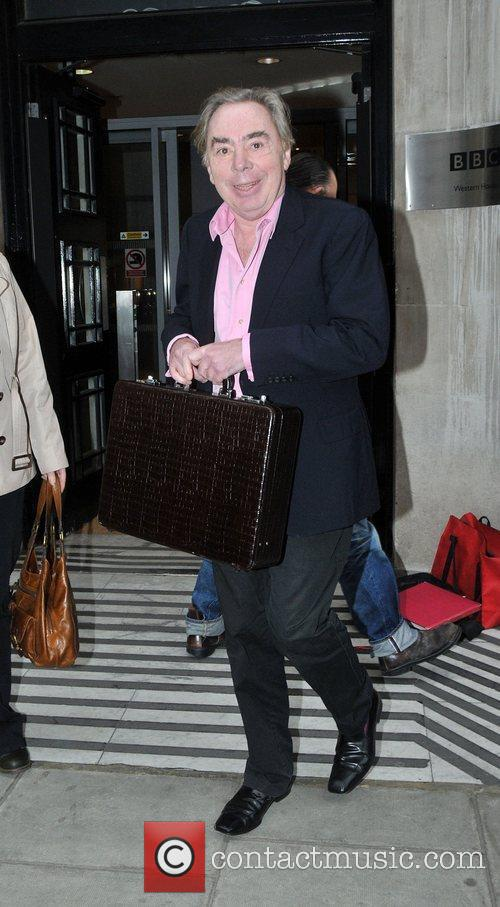 Andrew Lloyd Webber outside the BBC Radio 2...