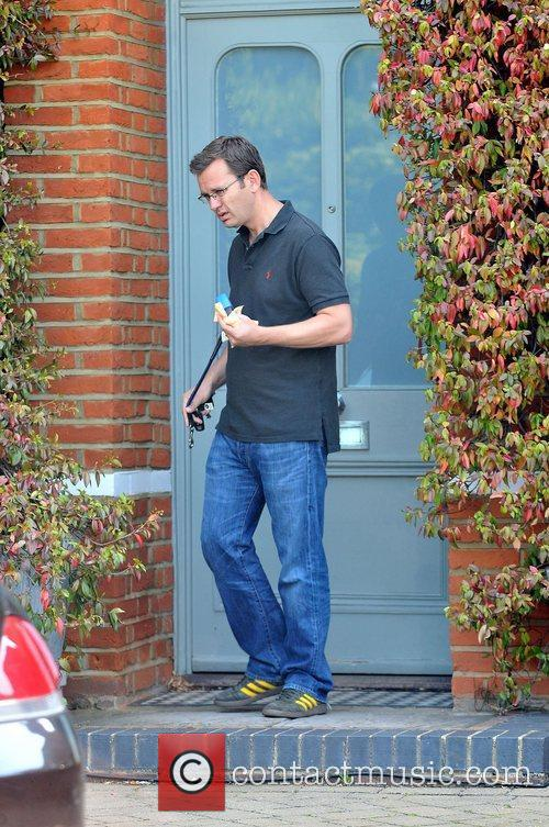 Andy Coulson leaving his house London, England